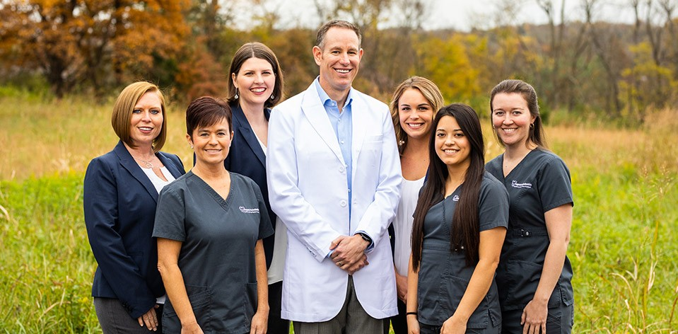 Dr. Clagett and Staff Group Photo