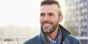 Middle Aged Man with Nice Teeth and Smile