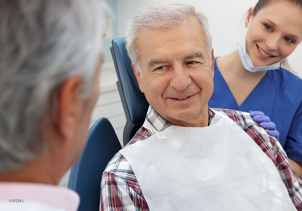 Patient Discussing Gum Surgery With Periodontist